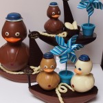 Canards en chocolat